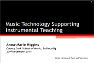 technology supporting instrumental teaching